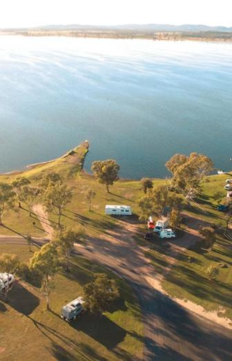 Aerial-view-of-landscape-and-lake-Queensland