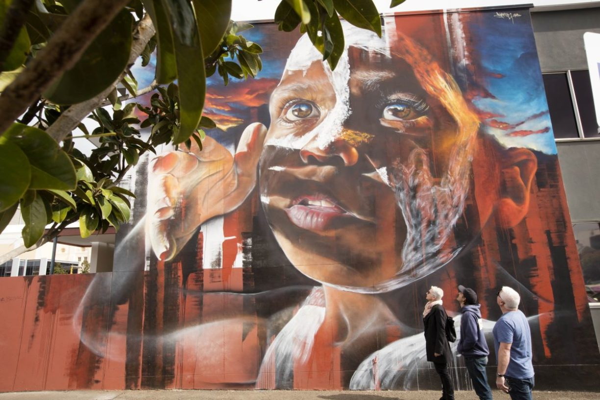 People-In-front-of-Building-art-Toowoomba