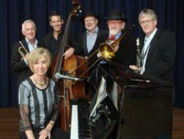 The Caxton Street Jazz Band in the Swigmore Hall at Robert Channon Wines